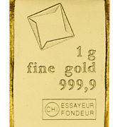 1 Gram Gold Bar Valcambi Suisse From Gold Combibar 999.9 Fine...egr