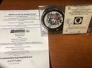 Herb Brooks-craig-eruzione Signed Miracle On Ice 1980 Usa Olympic Puck Ud Auth