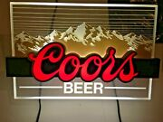 """Vintage Coors Lighted """"coors Edgelight"""" Beer Bar Sign 1980's. Lights Up."""