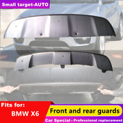 Fits For Bmw X6 F16 2015-2019 Bumper Board Guard Skid Bar Stainless Steel