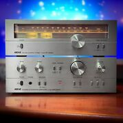 Akai Stereo Set At-2250 Amplifier And Am-2250 Am/fm Tuner 1978 Vintage Bundle