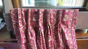 4 Pinch Pleat Custom Made Heavy Drapes Curtains Lined Long 102 Burgundy Gold