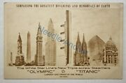 White Star Line's New Triple-screw - Olympic And Titanic - Ultra Rare Postcard