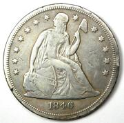 1846-o Seated Liberty Silver Dollar 1 - Vf Details - Rare New Orleans Mint Coin