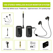 Uhf Stereo Wireless In Ear Monitor System Stage Monitoring Earphone Portable