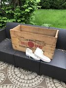 '21 Red Ball Band Jets Wooden Basketball Shoe Crate Vintage Old Sneaker Wood Box