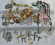 Preowned 51 Piece Lot Of Religious Jewelry Artifacts 37 Gram 10 Pc Sterling