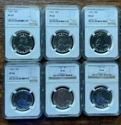 Proof Franklin Half Dollars Ms67 Ms66 Ngc Graded Coins Unc 90 Silver Proof Lot
