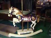 Carousel Horse Hand Carved Solid Wood