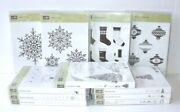 Christmas Rubber Stamps Lot 11 Stampin' Up Festive Flurry Stockings New And Used