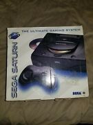 Sega Saturn Mk-80001 Black Console Open Box Only To Check Controller Otherwise..