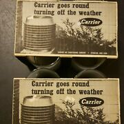 Rare Vtg Set/8 Carrier Air Conditioner Whiskey Glasses W/orig. Boxes Prop