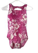 Your Best Look One Piece Swimsuit Sz 8 Tummy Control Pink Floral Suit Only