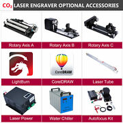 Co2 Laser Engraver Accessories - Laser Tube Power Rotary Axis Autofocus Chiller