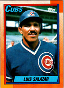 1990 Luis Salazar Out Field T- 3rd Base Card No. 378..