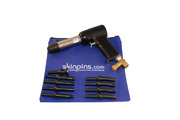 Aircraft Tools 4x Pneumatic / Air Rivet Gun With .401 9pc Snap Set In Pouch