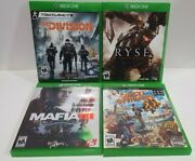 Sunset Overdrive/mafia Iii/ryseson Of Rome/the Division Xbox One Lot Of 4 Games