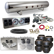 65-70 Impala Airbag Kit - Stage 1 1/4 Manual Control Air Ride System Dual 444c