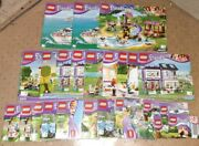 Lot Of 26 Lego Friends Manuals Instruction Books - See Details For Set Numbers