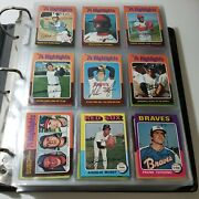 1975 Topps Baseball Card Complete Set - Storage Find Great Condition