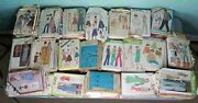 Huge Lot Of 200 Vintage Sewing Patterns Mixed Bulk Simplicity Butterick Mccalls