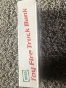 1986 Hess Toy Fire Truck Bank Mint New With Original Box