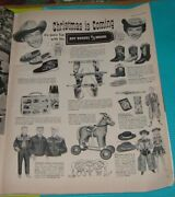 1955 Print Adroy Rogers And Dale Evans Western Toys Pistol Set Lunch Box Boots