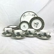 New 20 Piece Set Wedgwood Humming Birds Dinner Salad Bread Plate Cup Saucer
