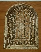 Antique Cathedral Heat Grate Vent Arch Victorian Ornate Salvaged Cast Iron