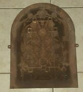 Antique Cathedral Heat Grate Vent Arch Victorian Ornate Cast Iron Salvaged