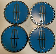 Lincoln Wire Wheel Chips Emblems 4 Blue 801 And Chrome Size 2.25 Zenith Style