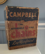 Vintage Campbell Automobile Tire Chains In Original Box Only