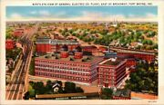 Postcard Birds Eye View Of General Electric Co Plant East Of Broadway Fort Wayne