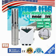 4 Dc Deep Well Solar Powered Water Pump Submersible 110v 1300w Mppt 5000l/h Us