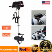 48v Electric Brushless Outboard Motor Inflatable Fish Boat Engine 2200w Us Stock