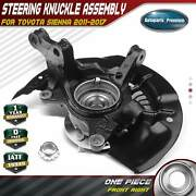 Wheel Hub Bearing Steering Knuckle Assembly For Toyota Sienna 11-17 Front Right