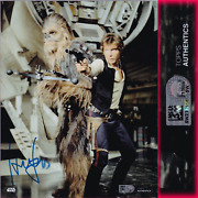 Harrison Ford / Han Solo Officially Signed Photo Star Wars Topps Authentics