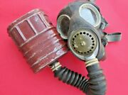 Vintage Original British / Canadian Ww2 Gas Respirator Mask W/ Canister Dated