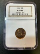 1939 Proof Lincoln Wheat Cent Ngc Pr-65 Rd - Proof Penny - Certified Slab - 1c