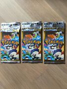 3x New Pokemon Booster Pack Expedition 1st Edition 2001 Japan Rare Vintage Unwei