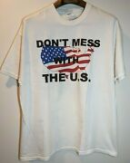 Vintage 90s Don't Mess With The U.s. Uncle Sam Men's Shirt. Size X-large