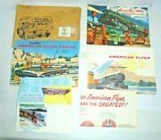 American Flyer Envelope With Three Catalogs And Other Paper Items Vintage Postwar