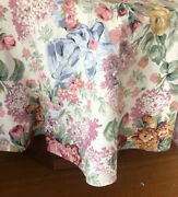 Allison Round Tablecloth White Blue Bow Roses Floral 68