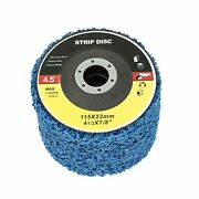10pcs Poly Strip Disc Wheel Paint Rust Removal Clean Tool For Angle Grinder Kit