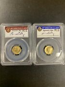 2016-w Gold 10c 100th Anniversary First Strike Pcgs Sp70 -2 Coins Set