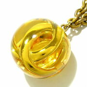 Necklace Coco Mark Gold Yellow Metal Material Plastic