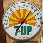 Vintage 1971 Sunshine 7up The Uncola 12 Dome Thermometer Made In U.s.a.