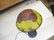 Good Vintage Rare Cameo Table Lamp Reproduction 21 X 13 Top And Bottom Light 2
