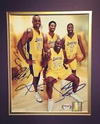 Kobe Bryant Shaquille Oneal Rare Psa Loa Authenticated Autographs
