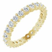 2mm 14k Yellow Gold And Diamond Eternity Standard Fit Band